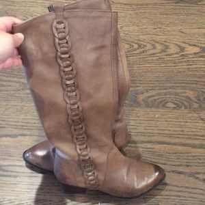 Shoes - Brown Detailed Leather Boots